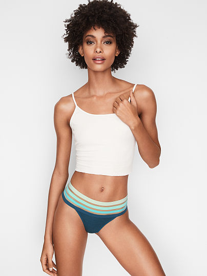 Stripe Waist Thong Panty by Victoria's Secret