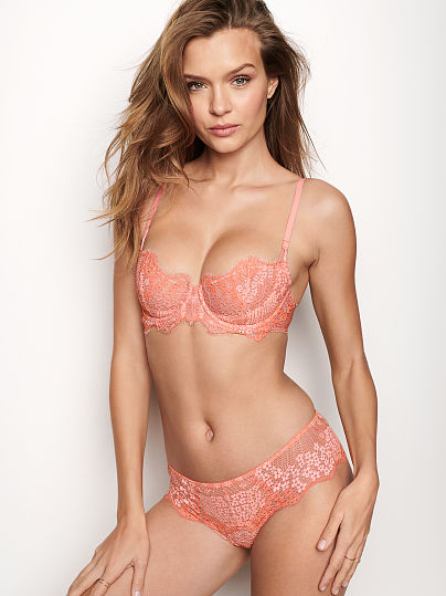 Mini Floral Lace Hipster Thong Panty by Victoria's Secret